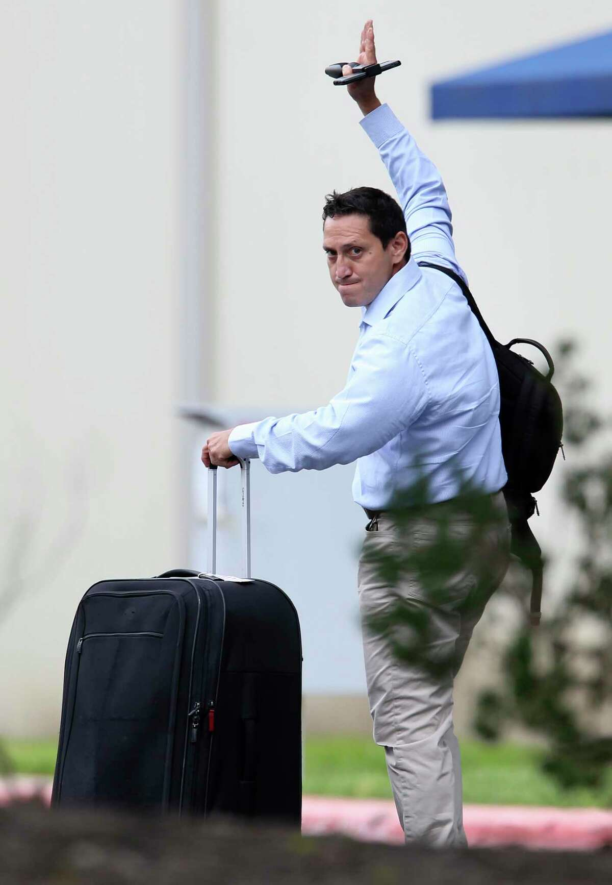 State Rep. Trey Martinez Fischer, D-San Antonio, arrives at the Austin airport with other Democratic legislators headed to Washington last week. It's the right strategy.