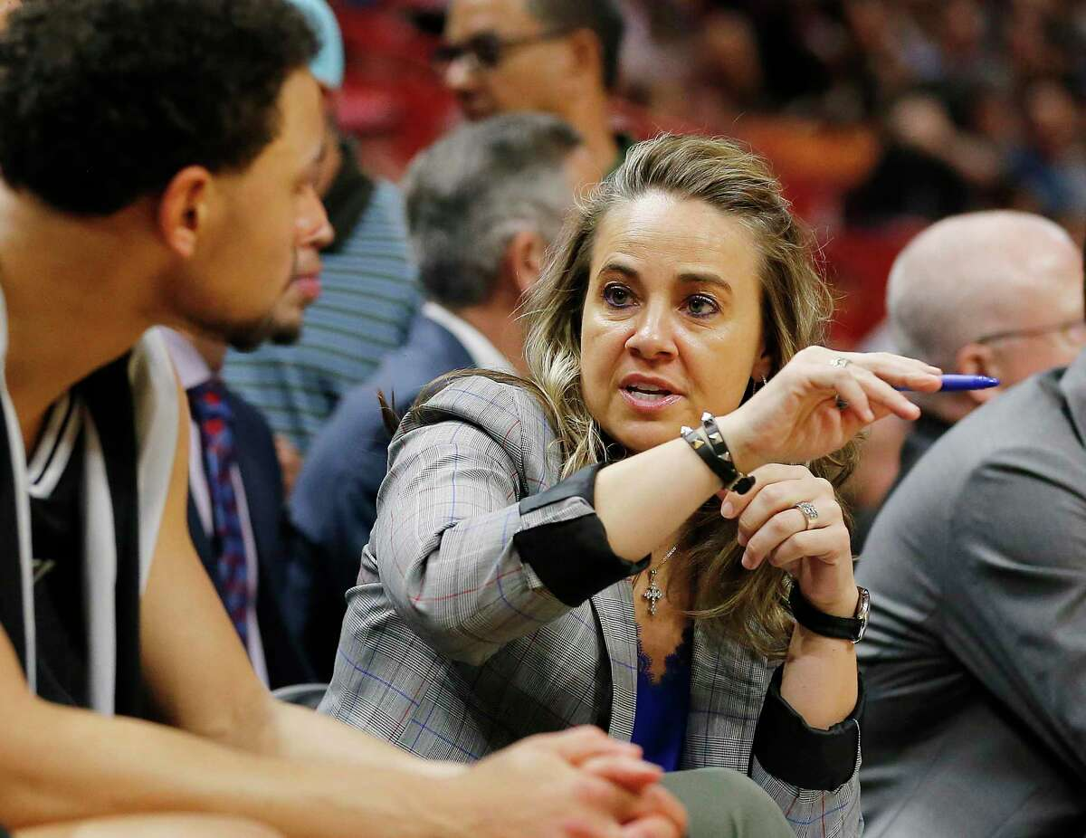 Becky Hammon's seven seasons of experience under Gregg Popovich so far have not landed her an NBA head coaching job.