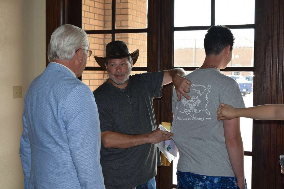 The Wolfstein family of New York made a stop in Plainview on Tuesday.