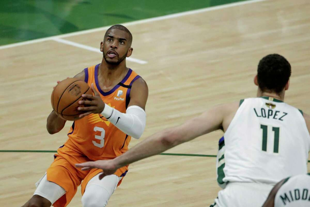 Chris Paul and the Suns host Game 5 of the NBA Fianls against the Bucks at 6 p.m. Saturday (ABC).
