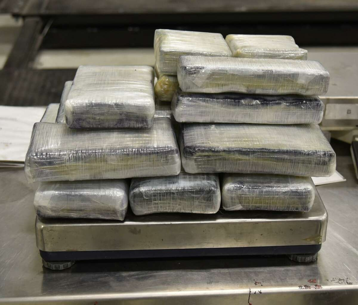 U.S. Customs and Border Protection officers seized these 37.61 pounds of cocaine on July 15 at the Juarez-Lincoln International Bridge. The cocaine had an estimated street value of $291,720. Three other seizures were also reported at local international bridges.