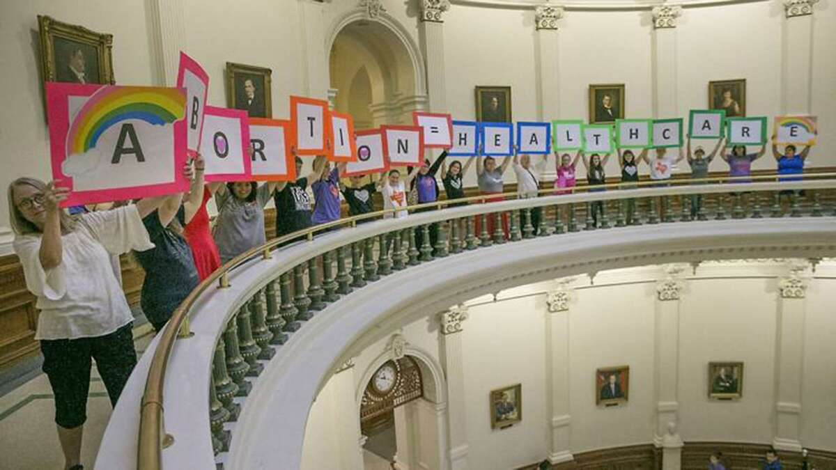 Abortion rights advocates protest abortion restrictions being debated in the Texas House on July 2017 at the Capitol.