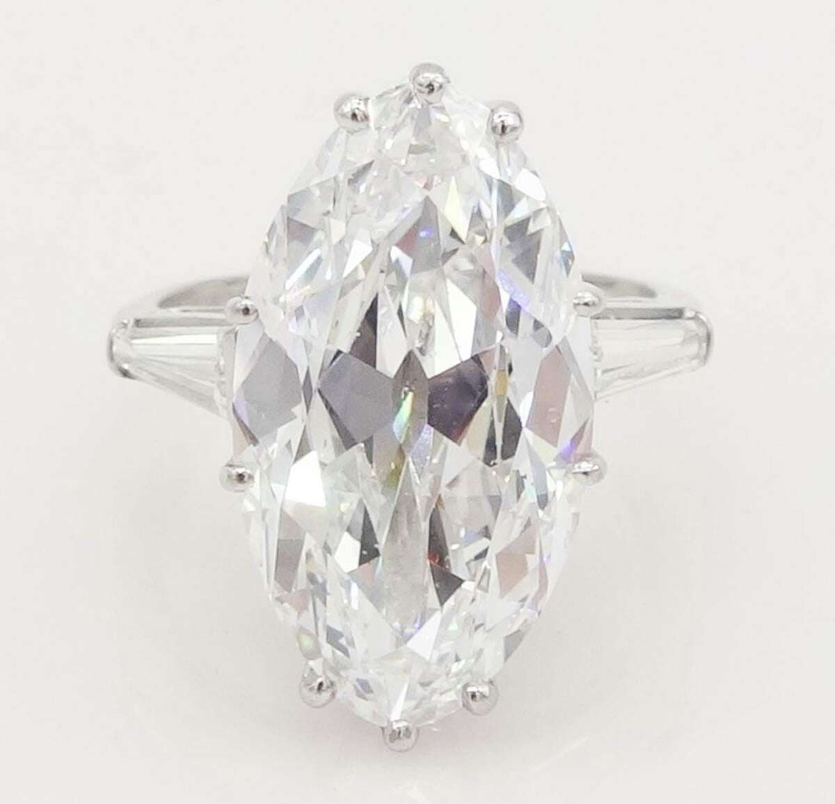 The large 10-carat diamond ring to be auctioned off at estate sale of Josie Beckos Wood