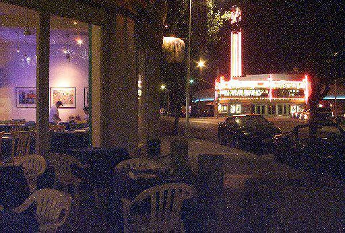 Fresno's Tower District is an up-and-coming area that features outdoor cafes and the Tower Theater.