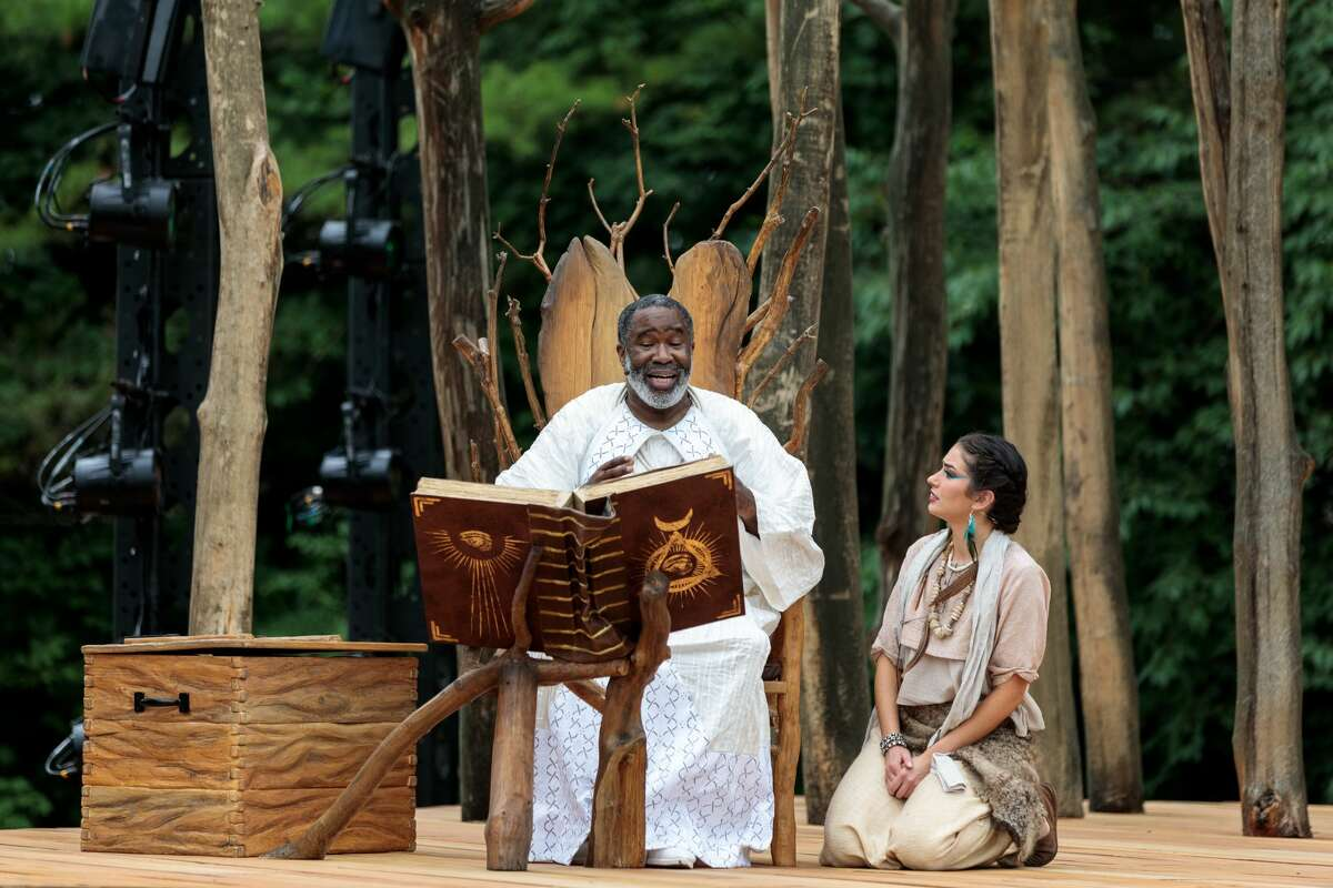 """The Glimmerglass Festival opened its post-shutdown season on Thursday, July 16, 2021 with Mozart's """"The Magic Flute"""" in a new outdoor performance space that allows patrons to be socially distanced. Bring a sun hat and a sense of adventure when you go."""