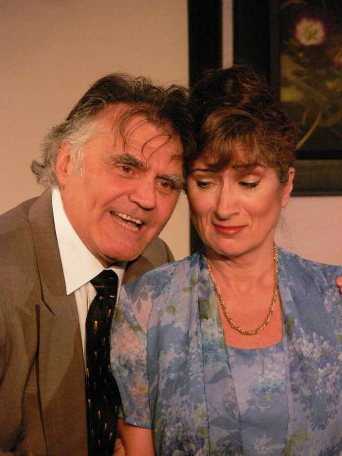 Paul D?Amato and Marina Re in a scene from the Lake George Dinner Theatre?s acclaimed production of OUR SON?S WEDDING, continuing thru Oct. 14.  (Lake George Dinner Theater)