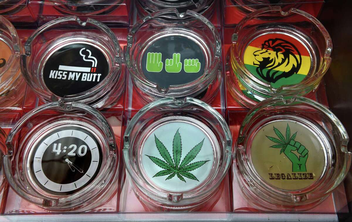 Ashtrays for sale at Bangarang in Wallingford on July 16, 2021.