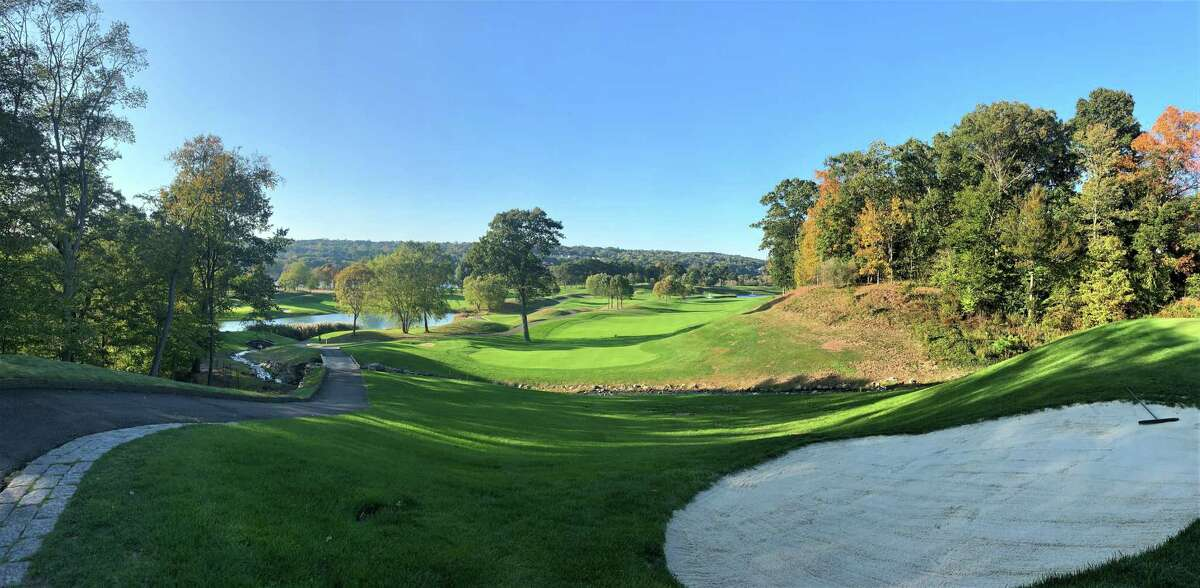 The third hole at Great River Golf Club in Milford, host of the New England Amateur championship this week.