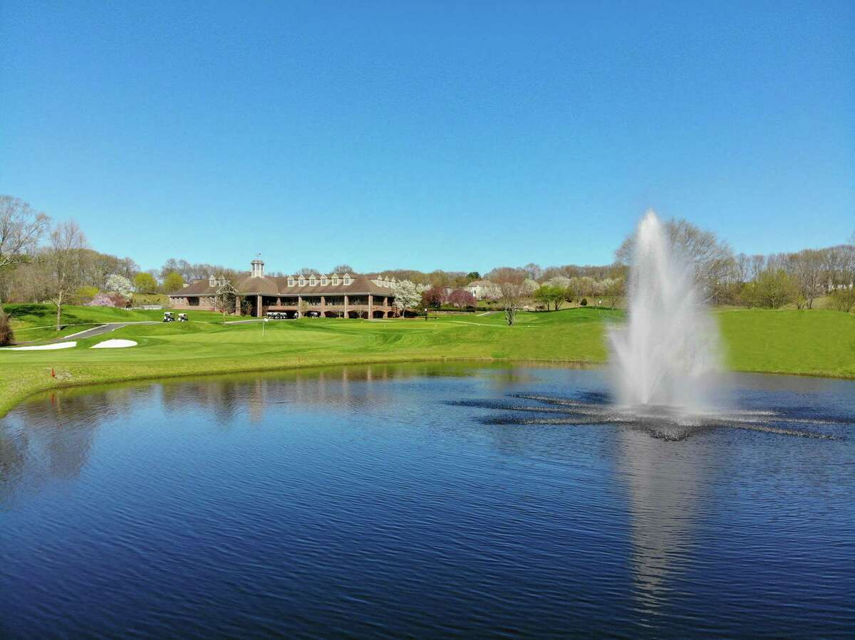 The clubhouse at Great River Golf Club in Milford, which will host the 92nd New England Amateur championship July 20-22.