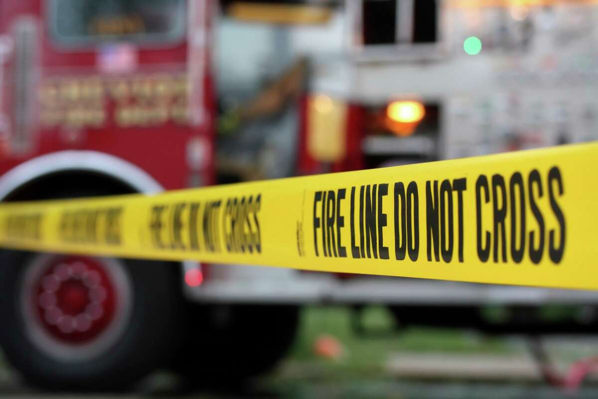 File photo of yellow tape at fire line. San Jose police were investigating a fatal hit and run on Saturday, July 17, 2021.