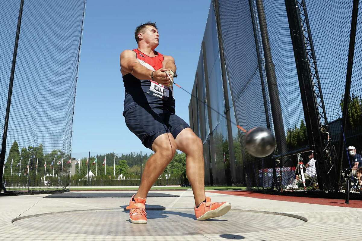 Averill Park's Rudy Winkler throws for 82.71 in the Men's Hammer Throw Final on day three of the 2020 U.S. Olympic Track & Field Team Trials, setting an American record and qualifying for Tokyo.