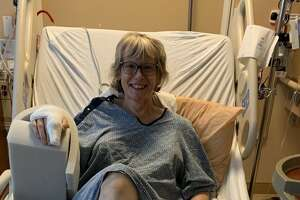 Retired U.S. Army officer Melissa Thompson-Flynn, 51, recovers from injuries after she was attacked by a fox while jogging on the Railroad Run trail in Saratoga Springs on July 14, 2021.