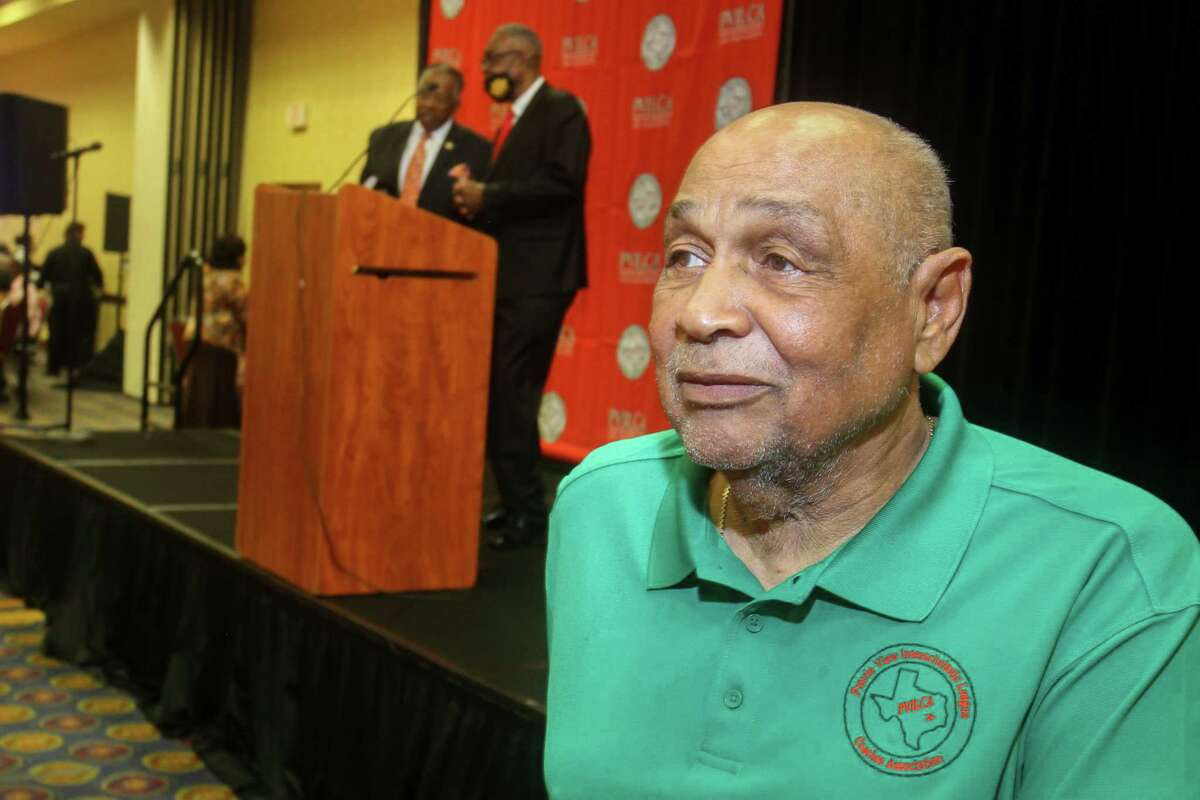 Chairman of the board Robert Brown at the Prairie View Interscholastic League Coaches Association's annual Hall of Fame banquet at the Houston Marriott South at Hobby Airport in Houston on July 17, 2021.