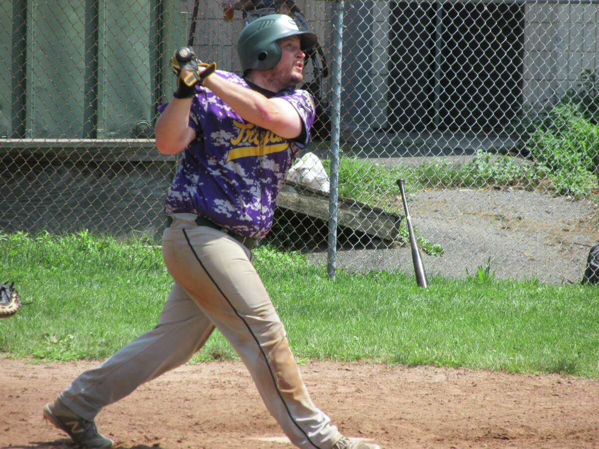 Tri-Town Trojan player/coach Danny McCarty had two RBI in a 10-inning Tri-State Baseball League game against the Terryville Black Sox Saturday afternoon at Old Terryville High School.