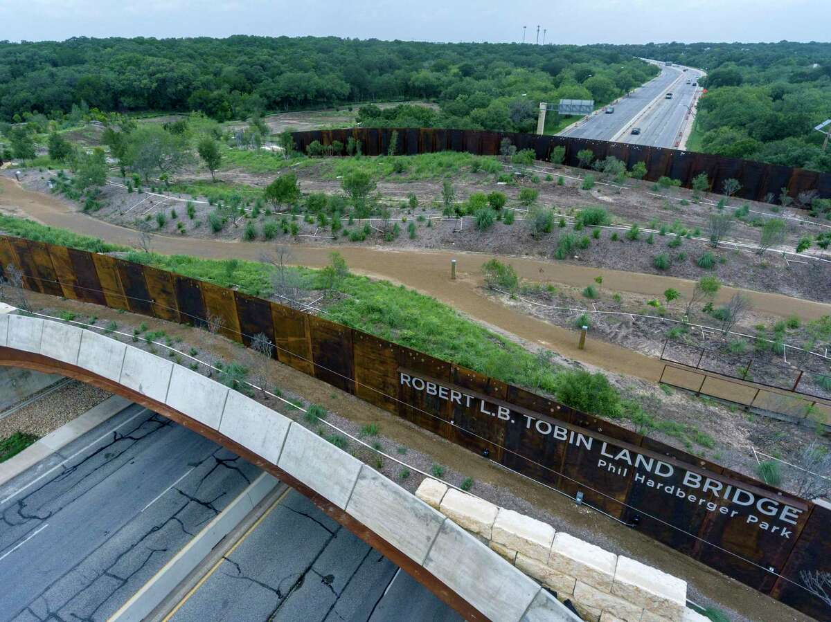 The Robert L.B. Tobin Land Bridge connects the two parts of Hardberger Park. The San Antonio Parks and Recreation Department has documented four species of wildlife on the land bridge: Virginia opossum, cottontail rabbit, white-tailed deer and coyote.
