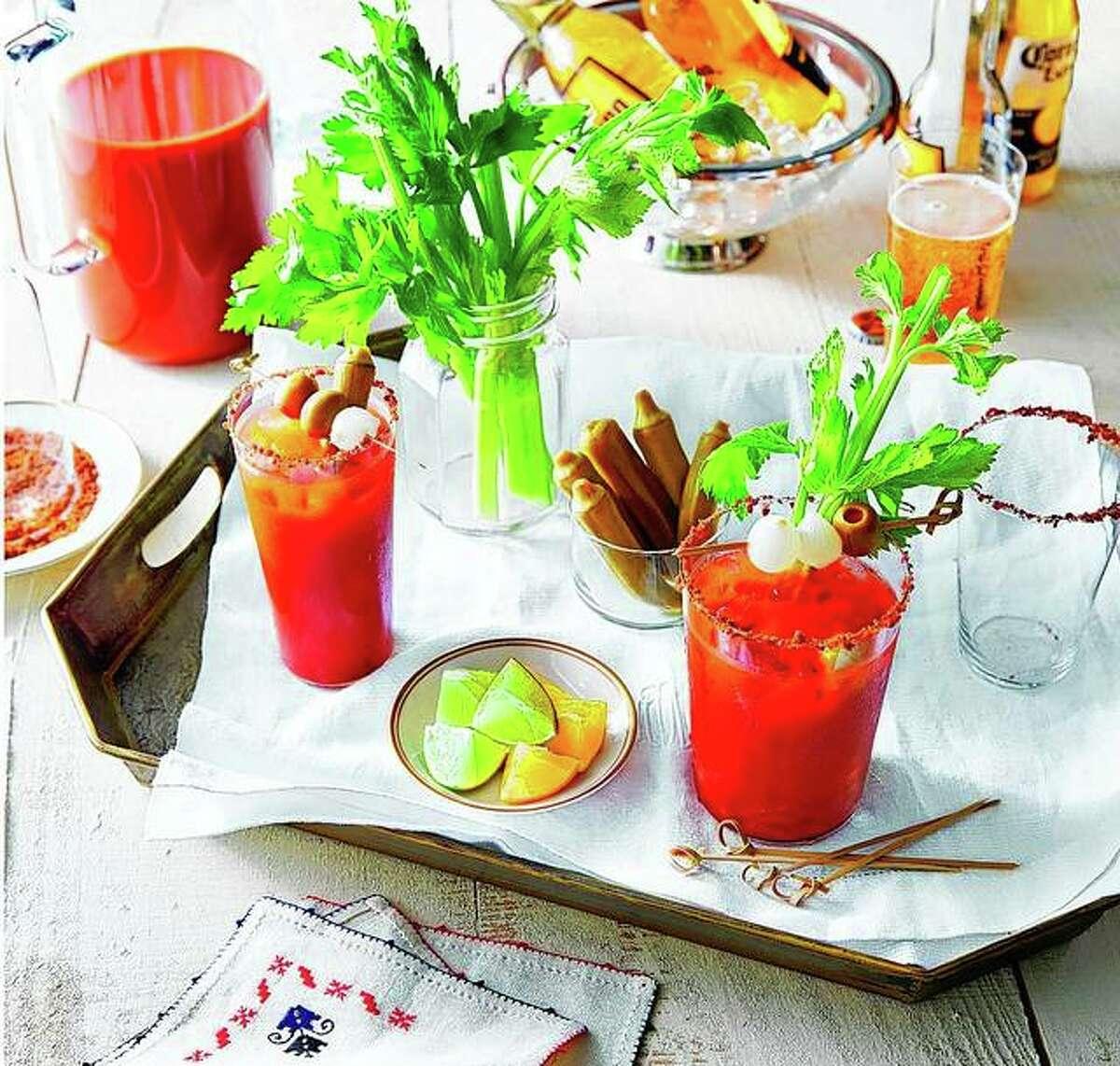 A Bloody Mary bar awaits visitors.