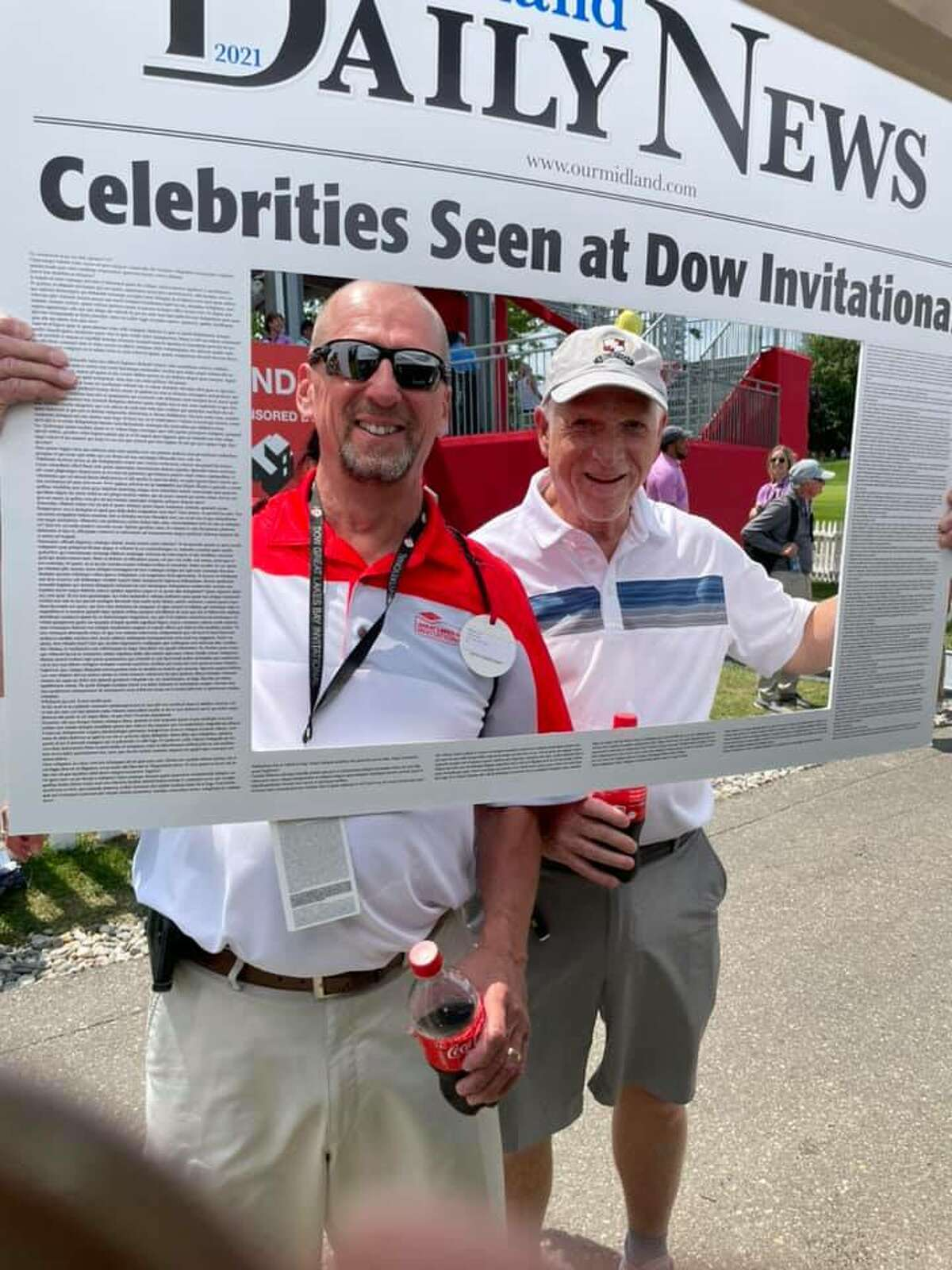 Spectators, volunteers, players, and others took the opportunity to have their Midland Daily News