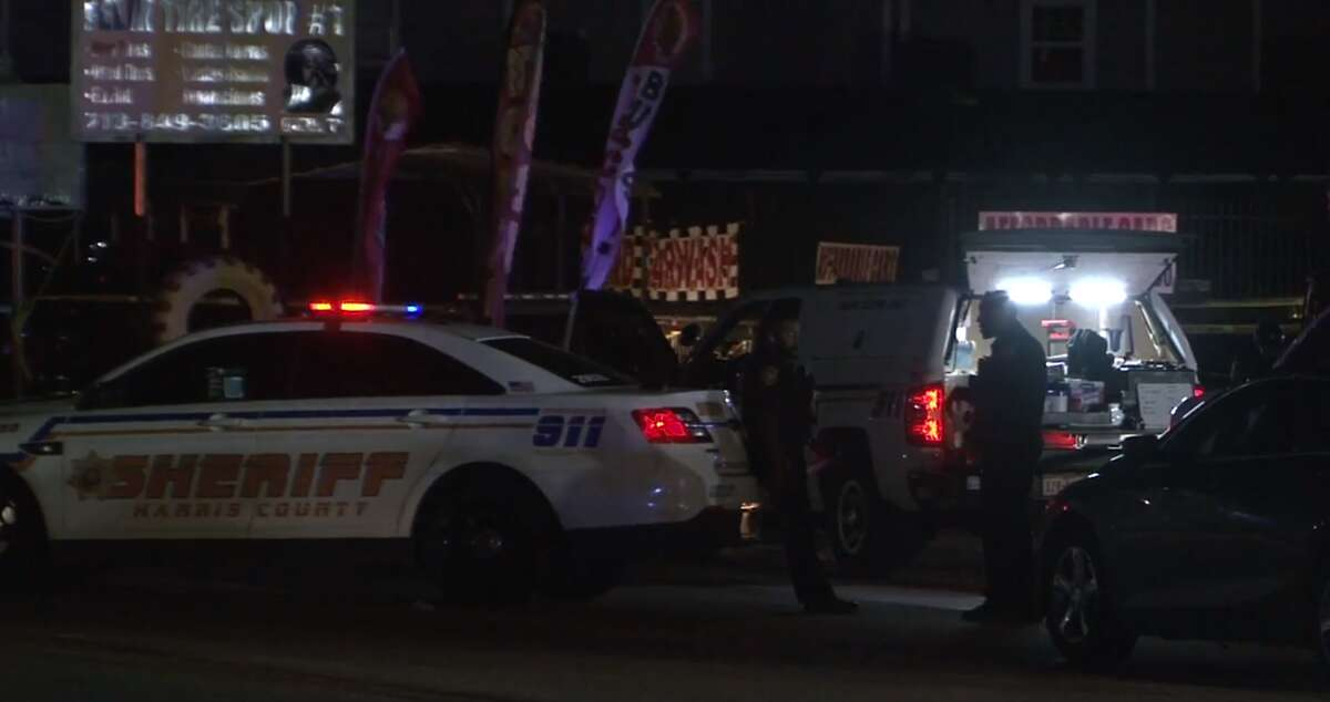 Two men were killed in a shooting in the 6000 block of Brittmore Road in north Harris County.