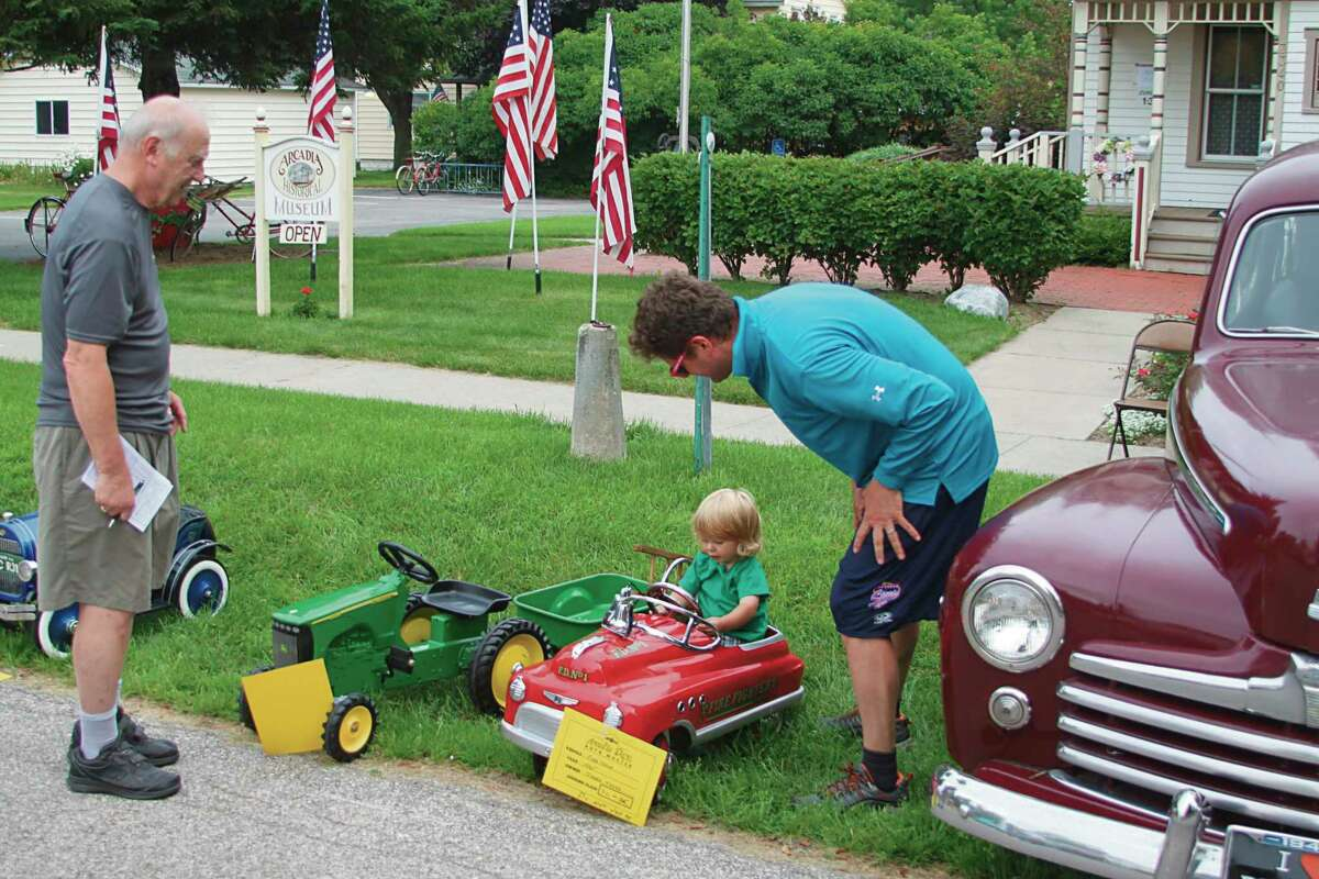 The Auto Muster during the 2017 Arcadia Daze even drew vintage vehicles that the younger generation could enjoy looking at and trying out. (File photo)