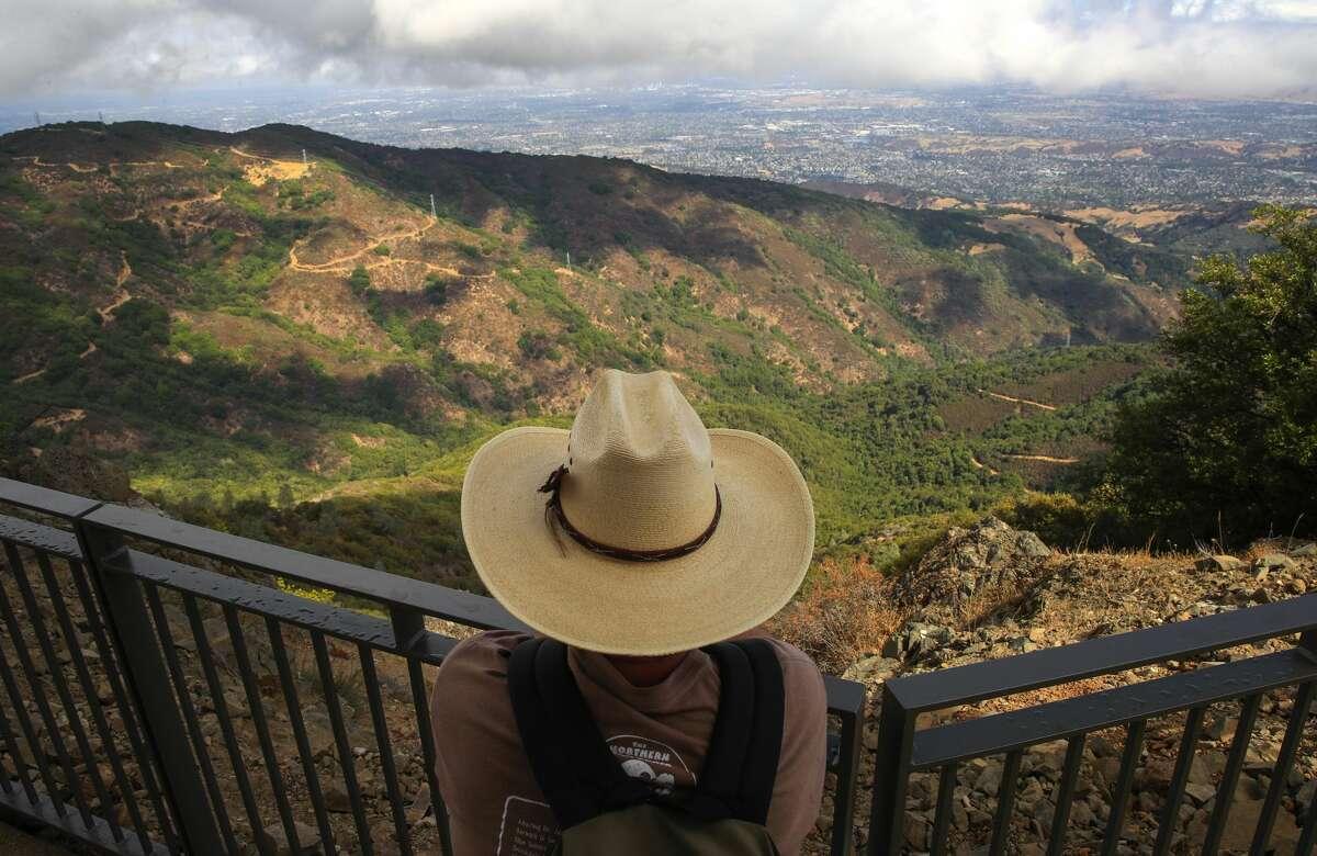 Views from the summit of Mount Umunhumnear Los Gatos, Calif.