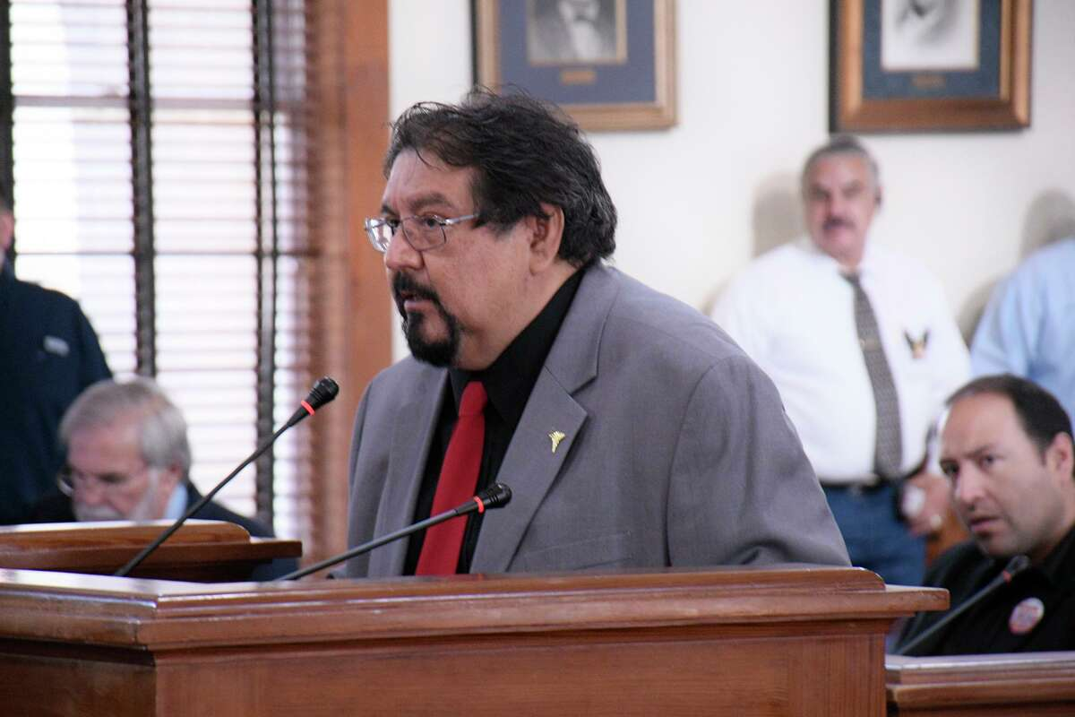 Webb County Risk management Administrator, Dr. Pedro F. Alfaro addressed County Commissioners during their special called meeting, Friday, March 13, 2020.