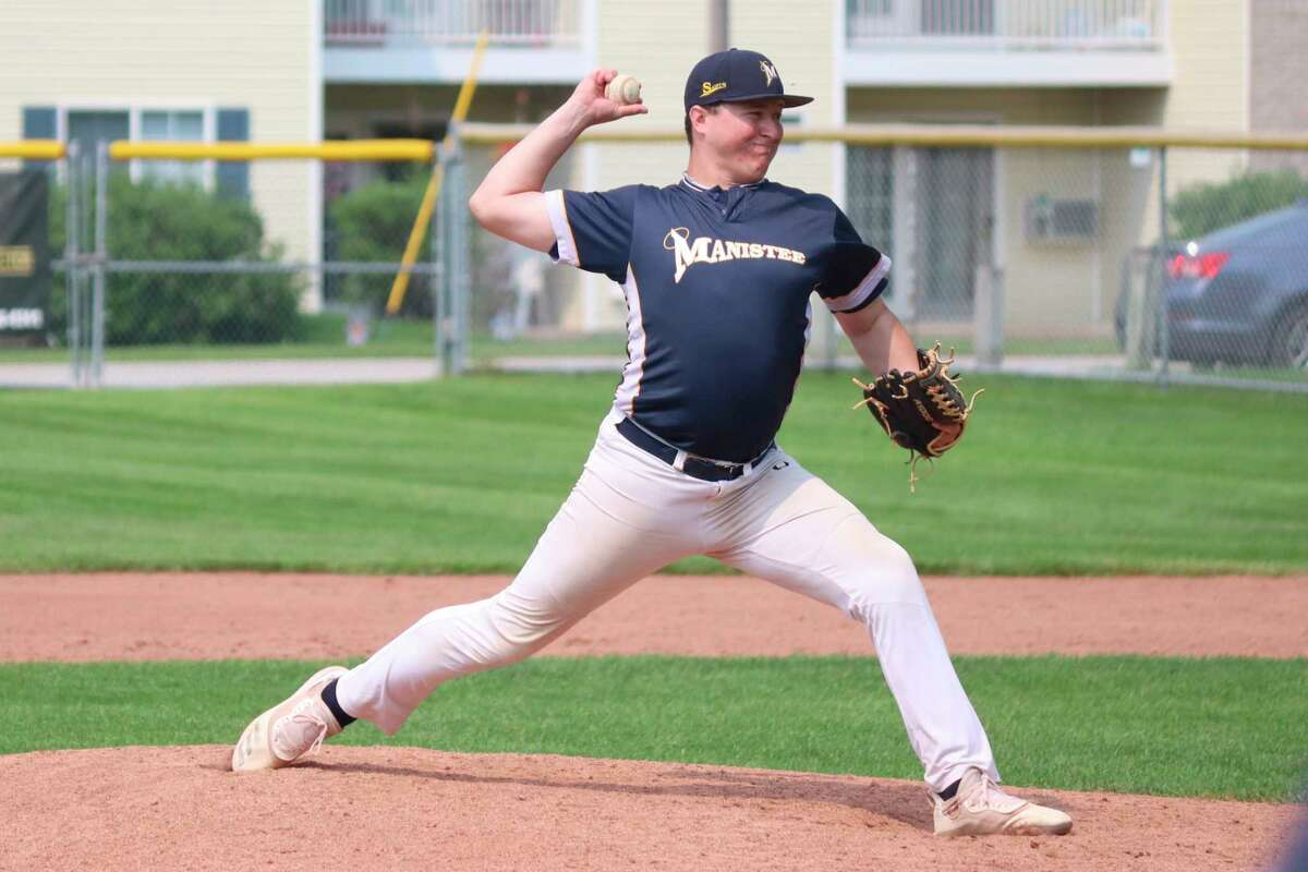 Cam Fewless came in and stopped the bleeding on Sunday to allow his team to come back from eight runs down to defeat the Northern Michigan Dogmen. (Robert Myers/News Advocate)