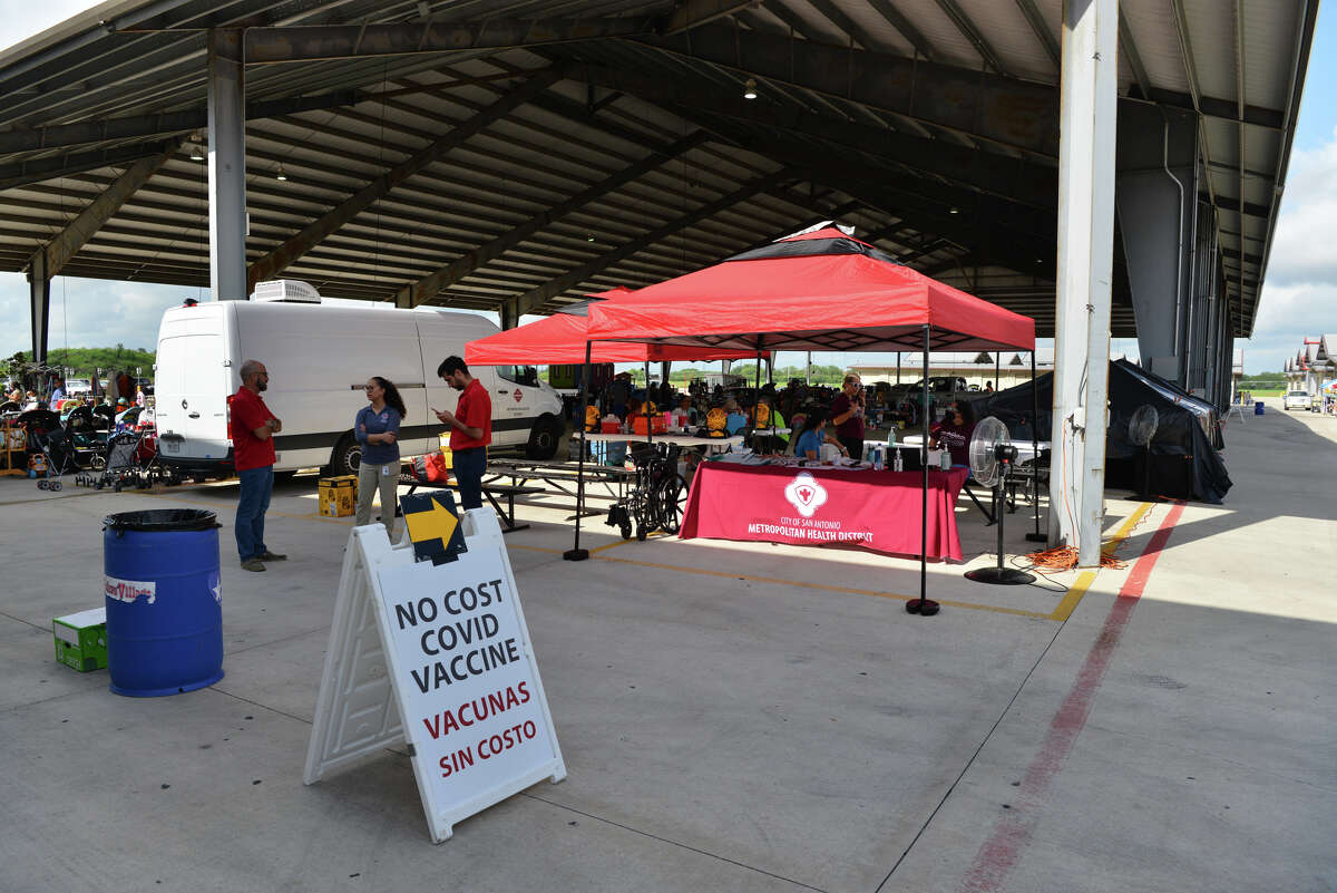 Metro Health set up a free, pop up COVID vaccine clinic at Traders Village Sunday. Those who chose to get shots were administered the Johnson & Johnson vaccine.