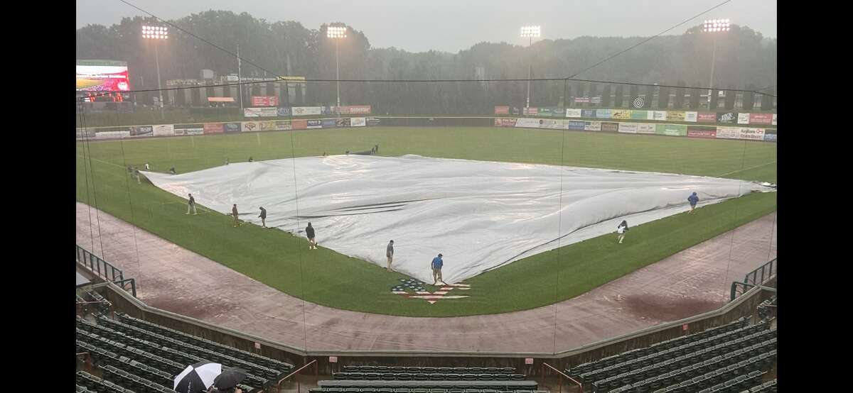 The ValleyCats game against New Jersey on Wednesday was postponed because of rain. It will made up in a doubleheader on Thursday. (Mark Singelais)