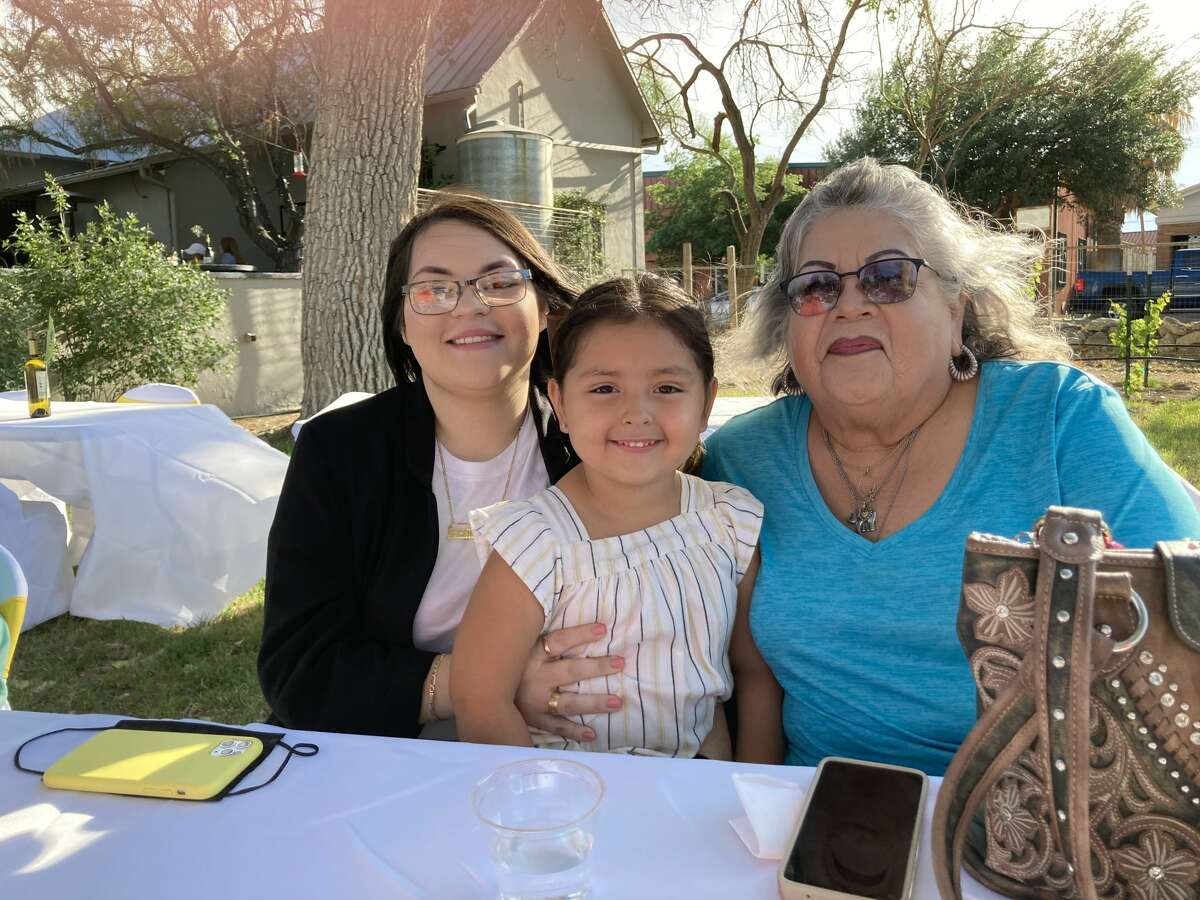 Ashleigh Ramirez with her grandmother and niece, Annalise.