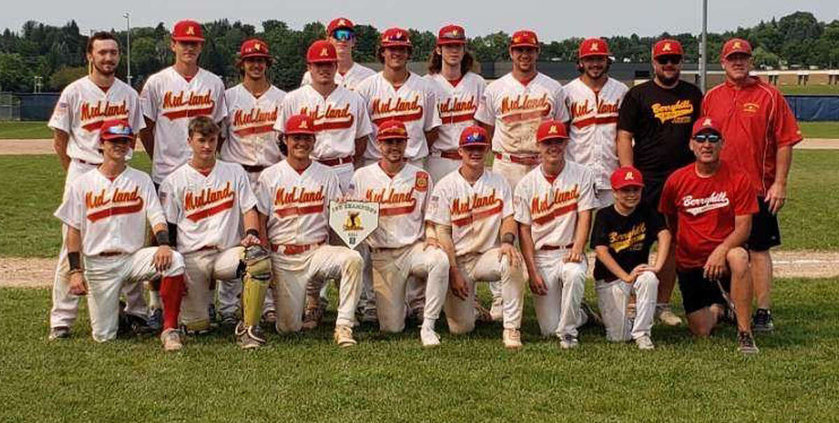 Members of Berryhill Post 165's baseball team which won the Petoskey Invitational this past weekend are (back, from left) A.J. Harvey, Lane Kloha, Blake Waibel, Braylen Laverty, Andrew Young, Trent Johnson, Max Coughlin, Derek Beougher, D.J. Thompson, assistant coach Ben Wright, assistant coach Deron Gross; and (front, from left) Nolan Sanders, Nathan Masar, Griffin Clark, Al Money, Al Warner, Danny Witbeck, an unidentified batboy, and manager Dan Cronkright.