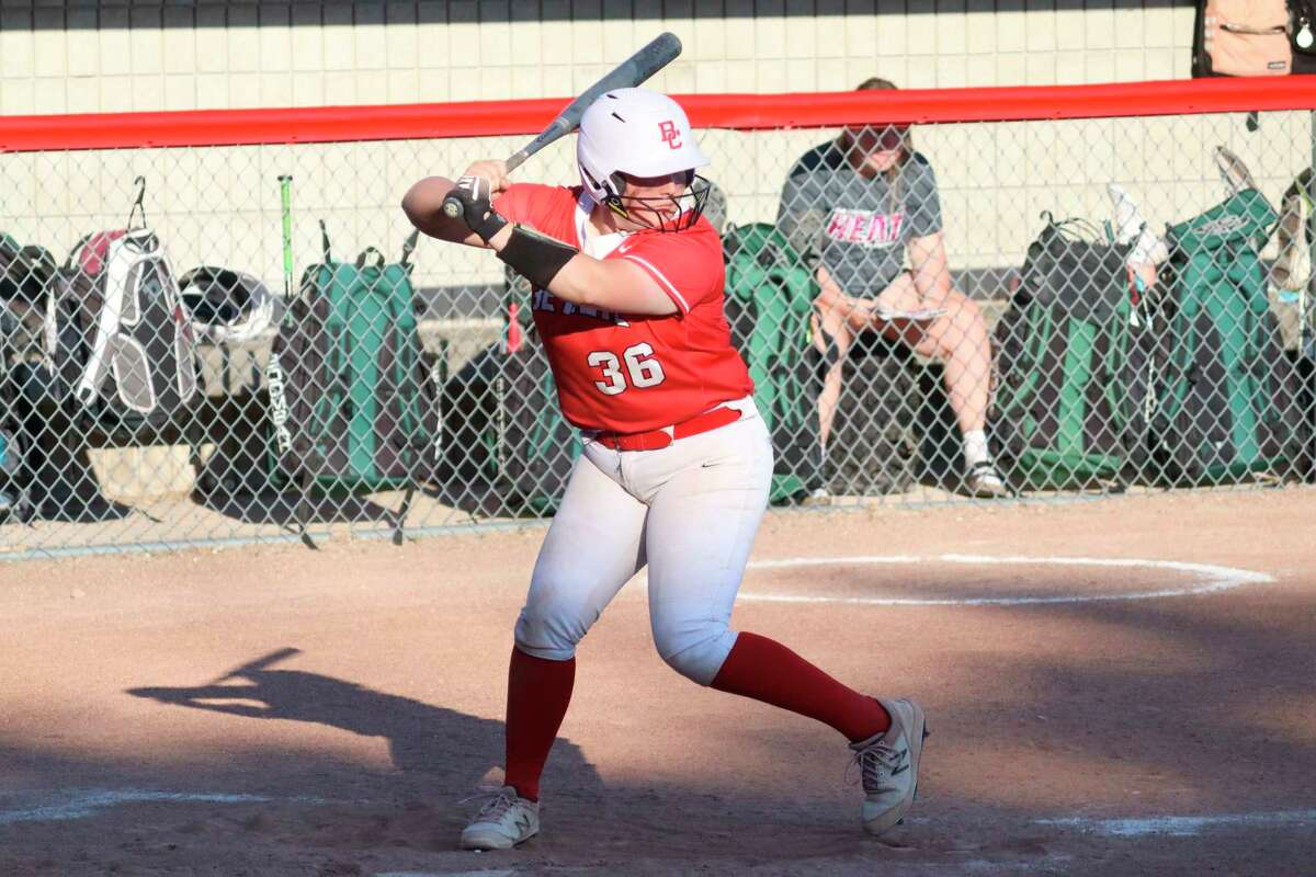 Kalee Gelakosky earned honorable mention all-conference honors while serving as the Huskies cleanup hitter. (Record Patriot file photo)