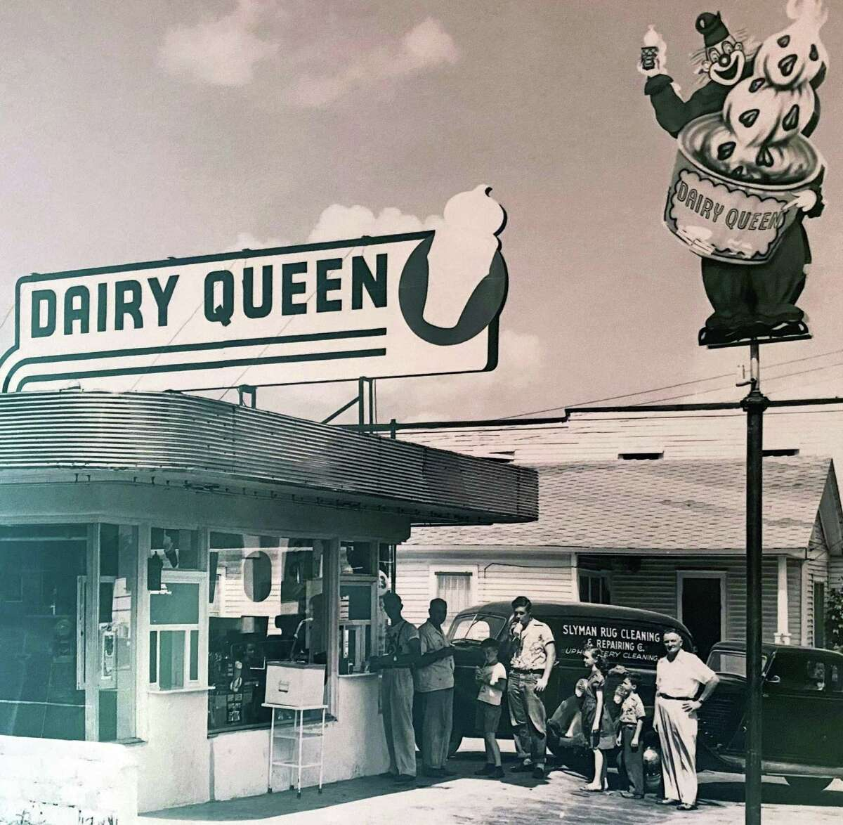 """Photo of Westbrook's Dairy Queen, one of the oldest in New England, from the 1960s. It was called a """"brazier"""" because it served hot food. Now it's called """"Grill and Chill."""""""