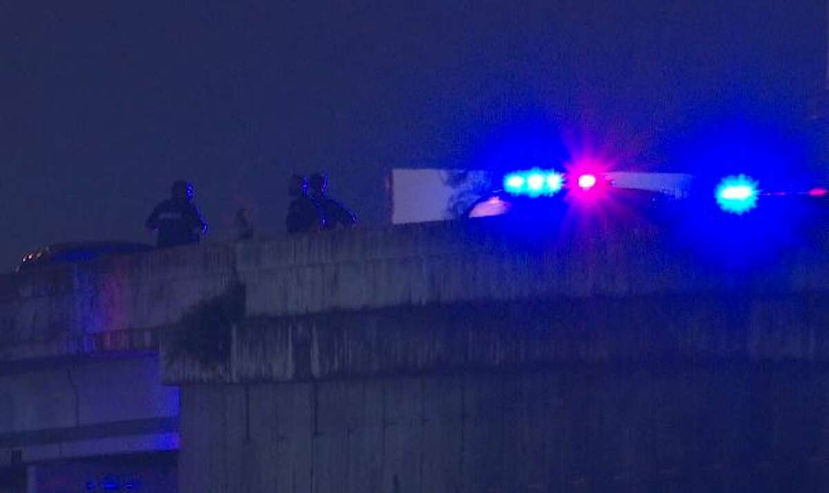 A man was found shot dead early Monday morning near a four-car crash on I-45 near Gulf Bank Road, according to police.
