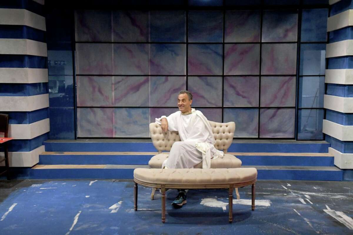 """Bill Shein in Curtain Call Theatre's production of """"An Act of God."""" (Photo: Michael P. Farrell)"""
