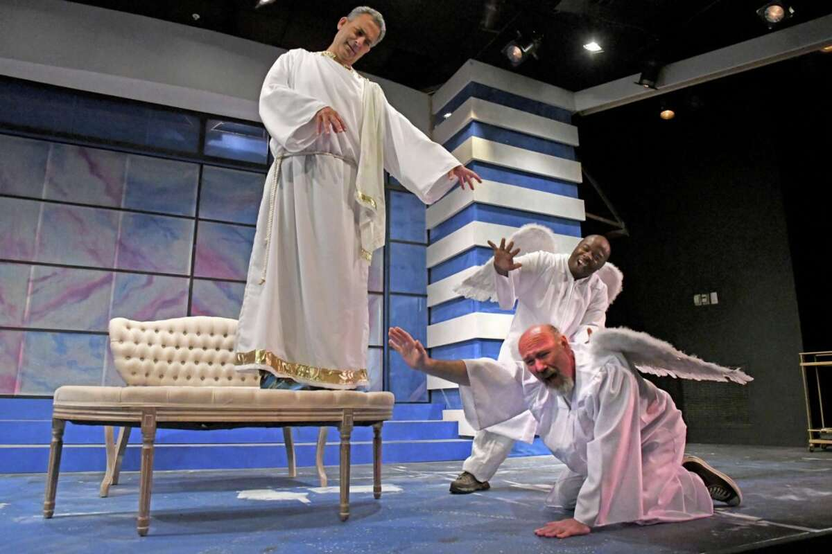 """Richard Marshall,(left to right) Bill Shein and Scott Wasser in Curtain Call Theatre's production of """"An Act of God."""" (Photo: Michael P. Farrell)"""