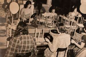 """Vinyl record production in Bridgeport. """"Topping the Charts: The Rise of Bridgeport's Columbia Records"""" will be on display at the Fairfield Museum and History Center starting July 30."""