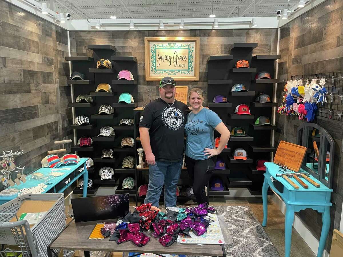 Chris and Natasha Nash own Saving Grace Designs, located inside Painted Tree Boutiques.