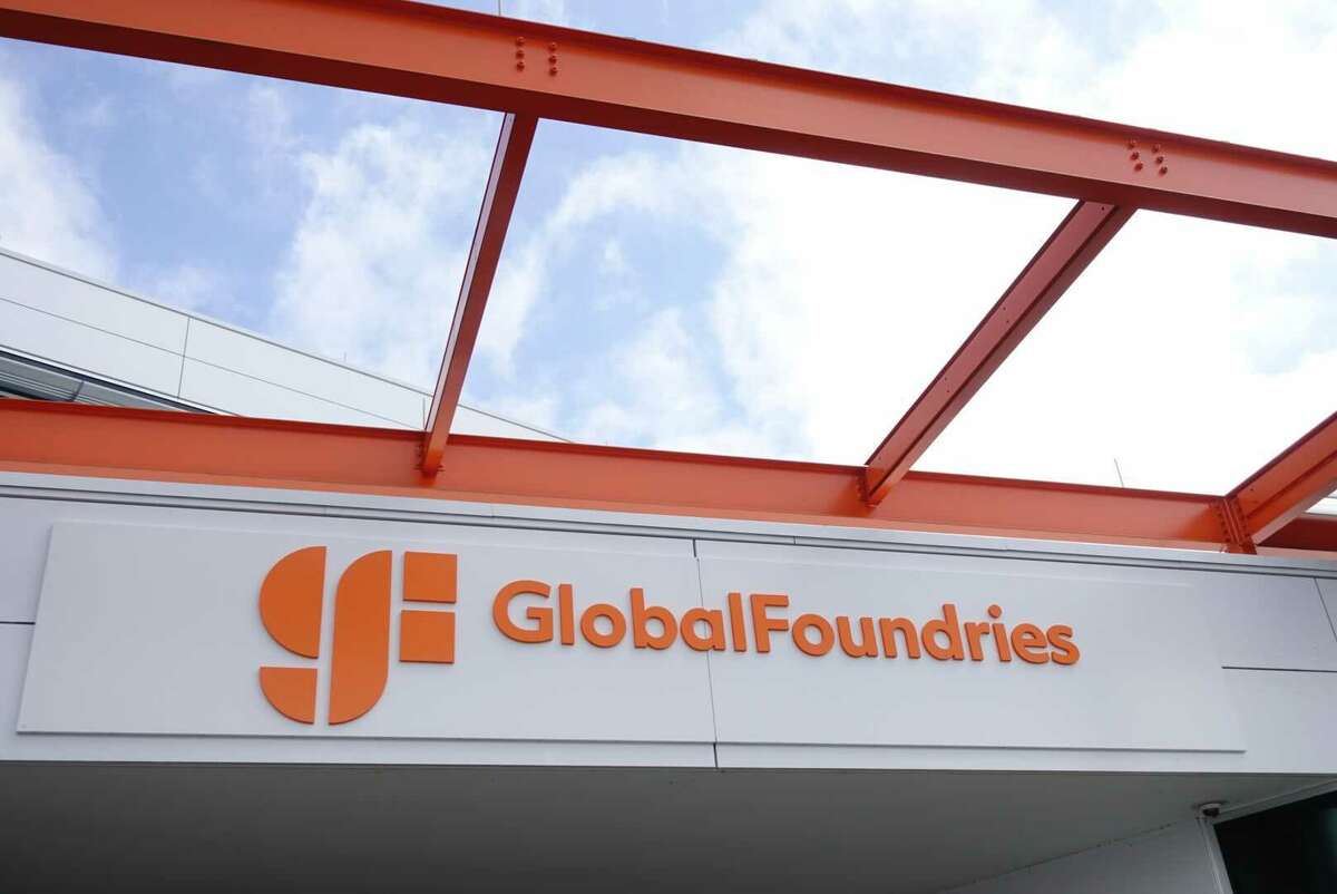 GlobalFoundriesunveils a new logo at the company's headquarters in Malta on Monday, July 19, 2021.