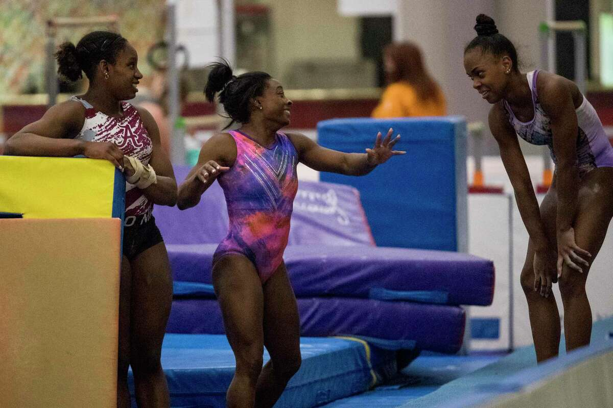 The Biles family's gym has drawn note of late for the large number of athletes of color competing on the elite level, including Biles, Olympic team member Jordan Chiles and Olympic Trials participants Zoe Miller and Amari Drayton.
