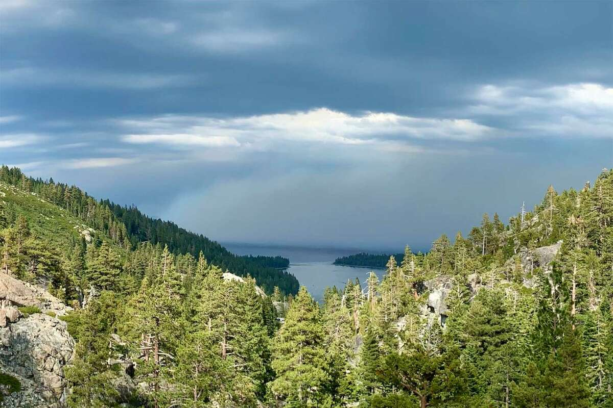 Twitter user Paul Fremeau shared this image of smoke from the Tamarack fire from Lake Tahoe (near Eagle Lake) on July 19, 2021.