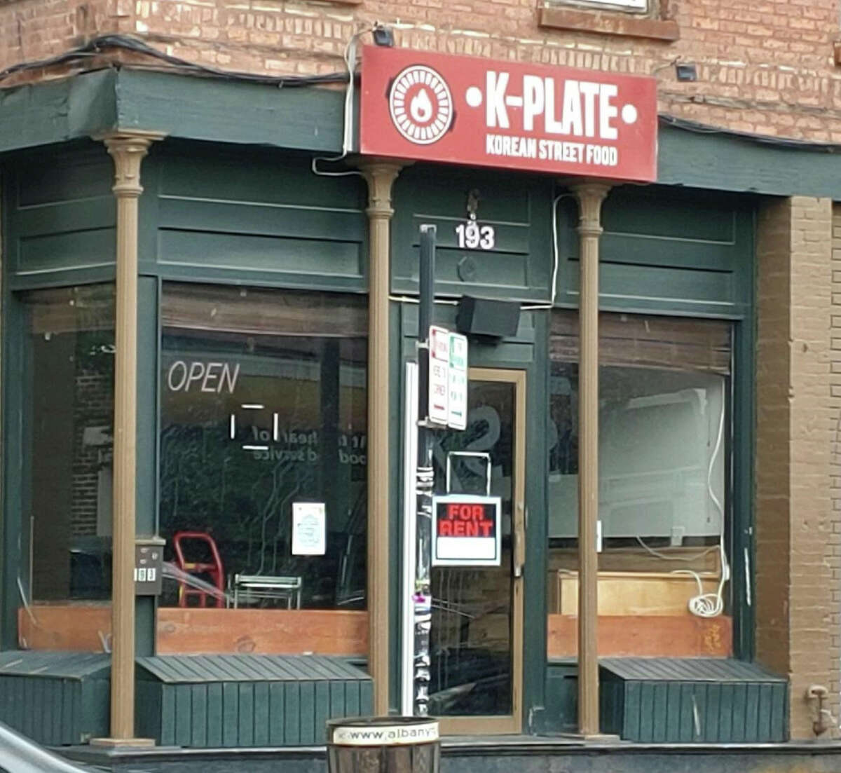 The 15-month-old Albany location of K-Plate Korean BBQ, at the corner of Lark and Springs streets, appears to be permanently closed. (Provided photo.)