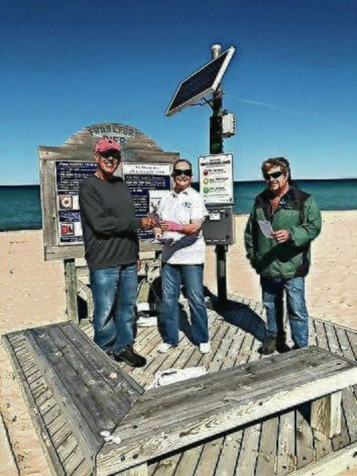 The Benzie Aquatics Center recently partnered with the City of Frankfort to help educate people about the dangers of swimming in Lake Michigan. (Courtesy Photo)