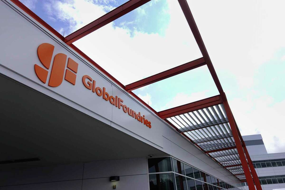 A view of one of the buildings at the Globalfoundries campus on Monday, July 19, 2021, in Malta, N.Y. CEO of Globalfoundries, Tom Caulfield, announced at the Monday event that a second chip plant will be built in Malta. (Paul Buckowski/Times Union)