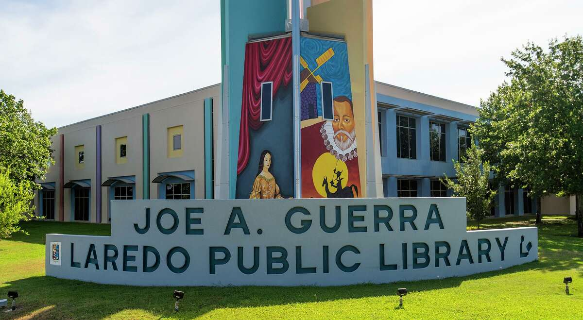 Several murals by Abel Gonzalez as seen Saturday, July 3, 2021. at the Joe A. Guerra Laredo Public Library.
