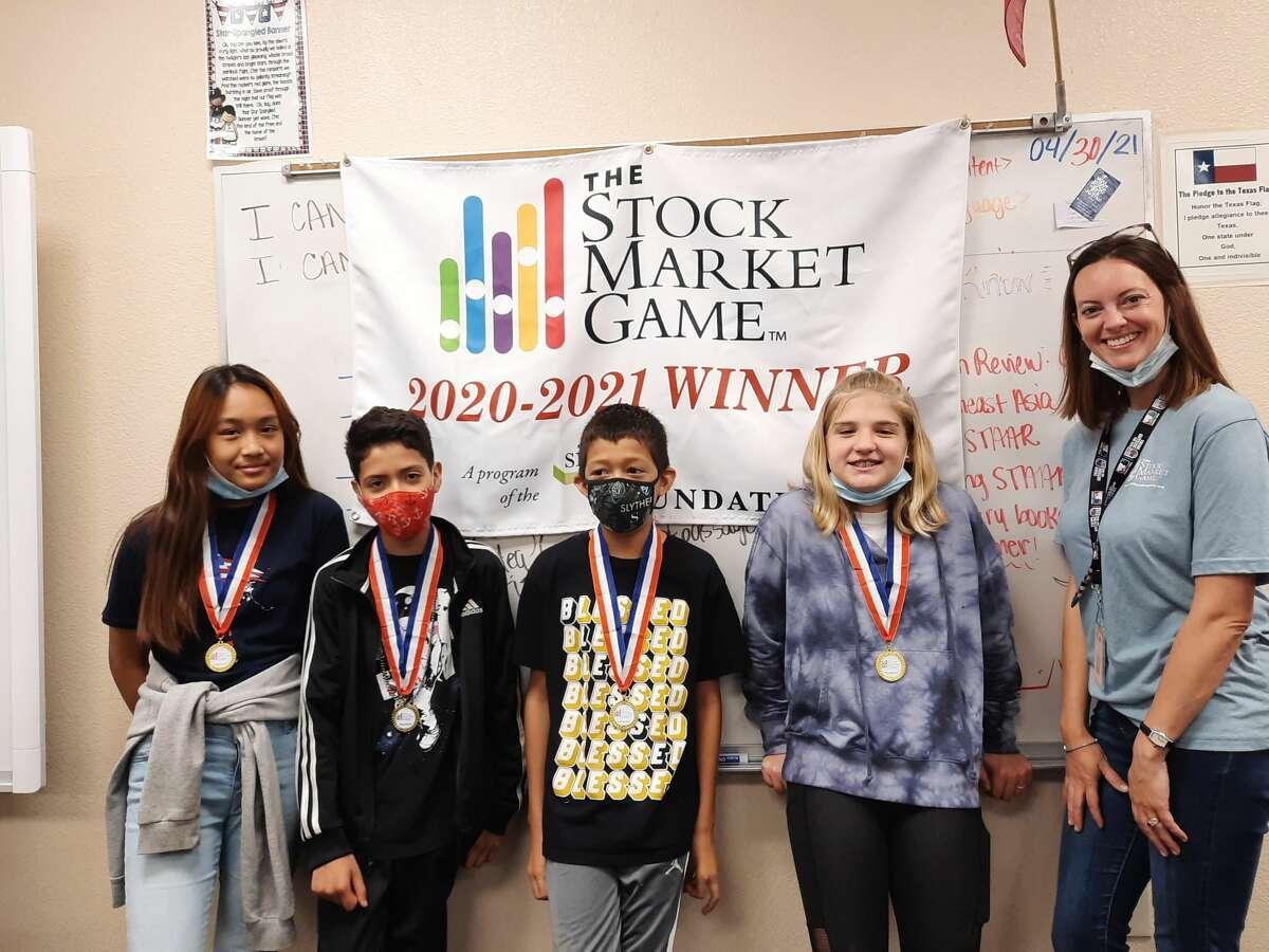 Rusk Elementary's sixth-grade Stock Market Game team members