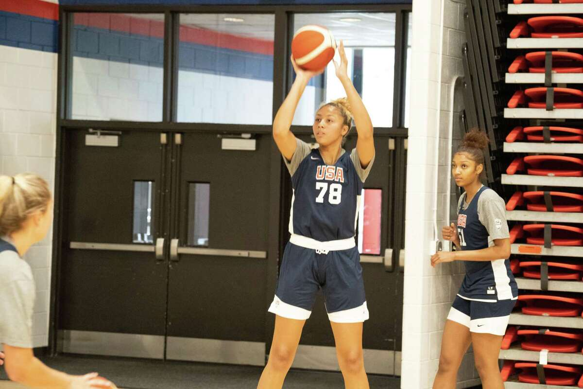Incoming UConn women's basketball freshman Amari DeBerry participated in the USA Basketball U19 World Cup trials in Denver from May 14-16, 2021.