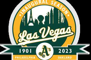 A mock-up patch for the Las Vegas A's designed by Kyle Tellier, who says he nevertheless likes the Oakland A's more than the San Francisco Giants.