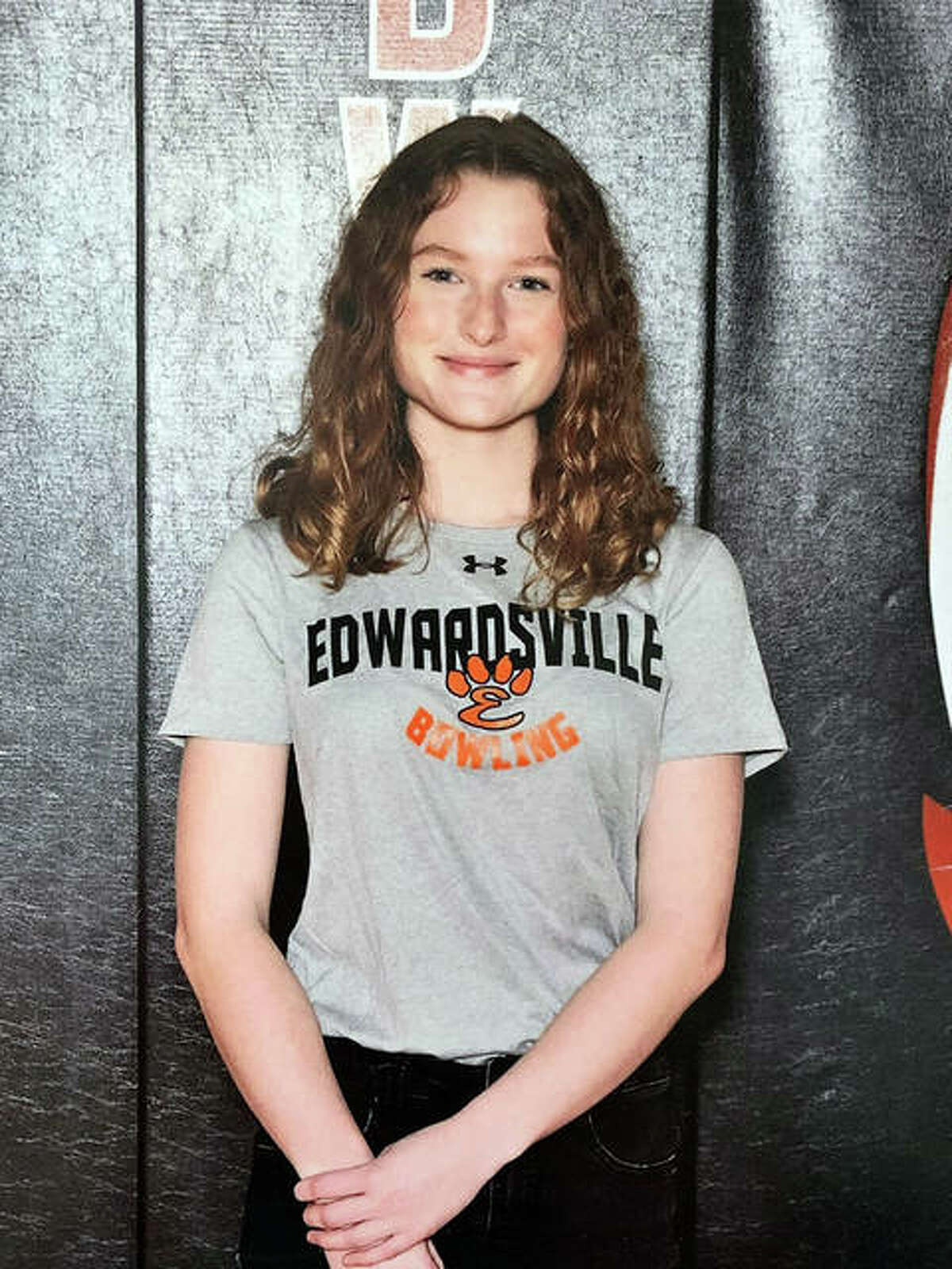 Junior Ashley Kuethe had a team-high 173 average for the Edwardsville girls bowling team in 2021.