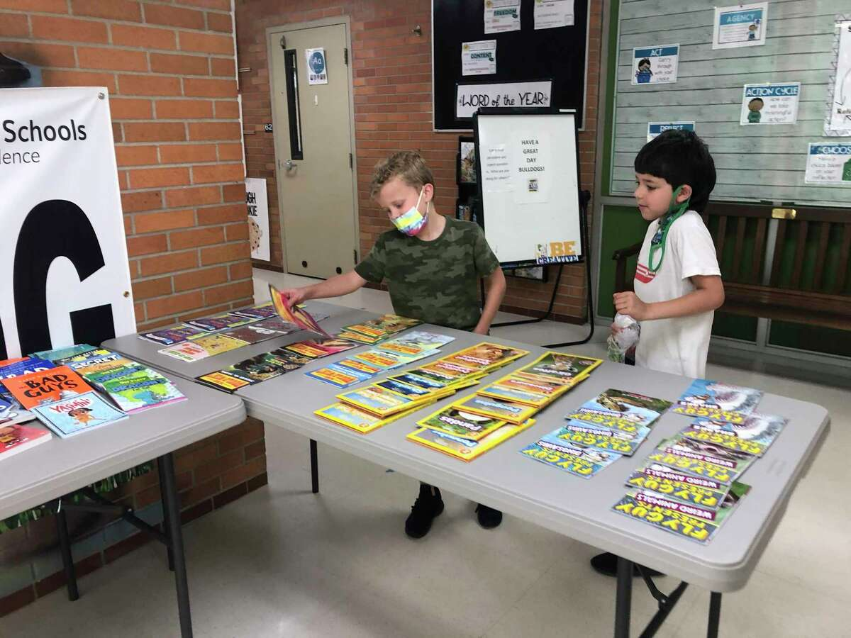 With a $5,000 donation from the Midland Lions Club, Midland Public Schools purchased many grade-level books for elementary and middle school summer school students. (Photo provided)