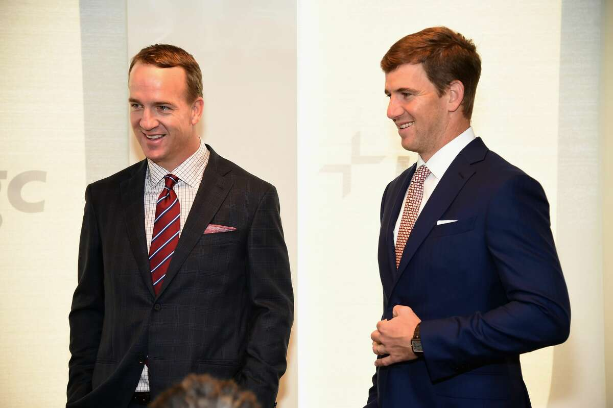 """Peyton Manning (left) and brother Eli Manning will headline an alternate """"Monday Night Football"""" MegaCast on ESPN2 this fall."""